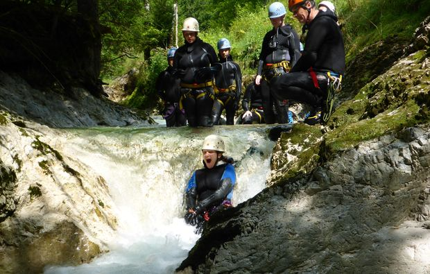 canyoning-tour-steinbach-am-attersee-spass