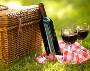 picknick-weinflasche