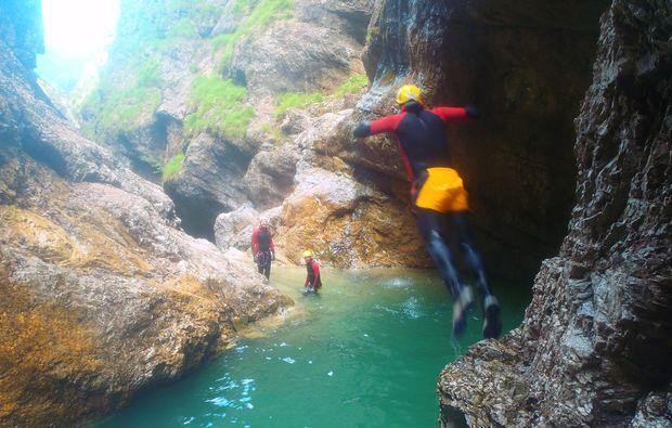 canyoning-tour-hallein-sprung