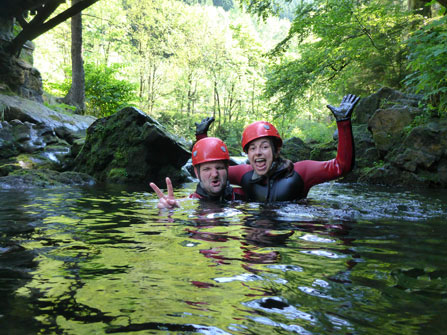 Canyoning Harz Sommer