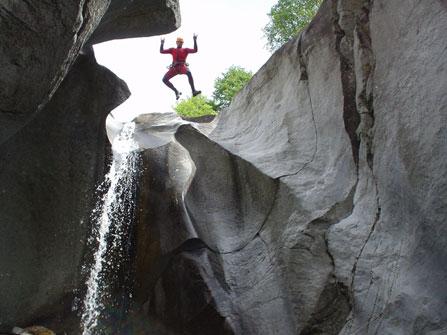 Canyoning Garmisch Partenkirchen Sprung