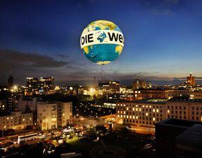 Aufstieg im Weltballon - Vermarktung über Fliegen & Fallen Fesselballonfahrt im Weltballon über Berlin - 15 Minuten