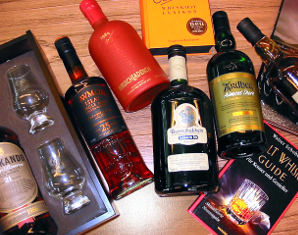 Whisky Tasting (Kleines Whisky Tasting) von 5 Sorten Whisky