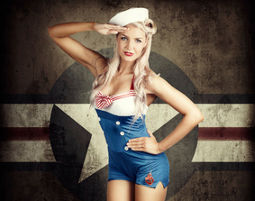 Pin-up Fotoshooting inkl. Make-Up & 3 Prints, ca. 3 Stunden