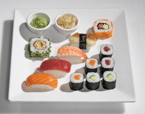 Sushi Restaurants (Sushi-Mittagsmenü) - Berlin, Potsdamer Platz Arkaden Mittags- und Abendmenü, inkl. Tee & Wein