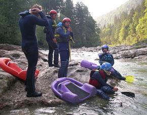 Hydrospeed/Wildwasser Wochenende - Kiefersfelden Inn, inkl. 2 Übernachtungen mit Frühstück & Canyoning-Tour - 3 Tage