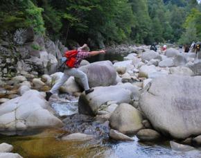 Flussbett- Trekking  Forbach Flussbett-Trekking - 3,5 Stunden