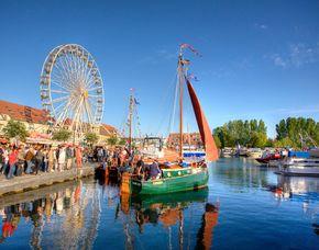 Kurzurlaub - 2 ÜN - Waren (Müritz) Ferienwohnung am Yachthafen - Bootsverleih