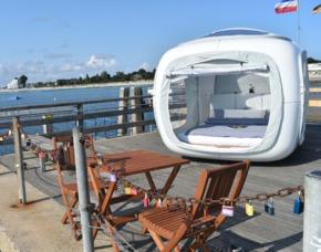 Außergewöhnlich Übernachten im sleeperoo Cube - 1 ÜN (Preis A - Mo-Do) - Großenbrode im sleeperoo Cube - inklusive Chillbox - Seebrücke in Großenbrode
