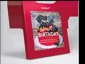 Erlebnisse-Geschenkideen: Happy Birthday