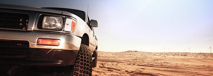 Geländewagen offroad fahren