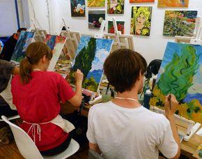 Malworkshop/Meisterwerke nachmalen Meisterwerke nachmalen, ca. 2,5-3 Stunden