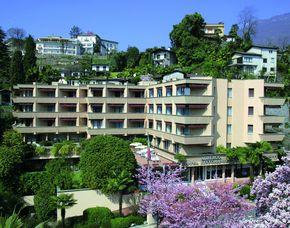 2x2 Übernachtungen inkl. Erlebnis - Hotel Sasso Boretto Ascona - Ascona Hotel Sasso Boretto Ascona - Aperitif, Blumengruß