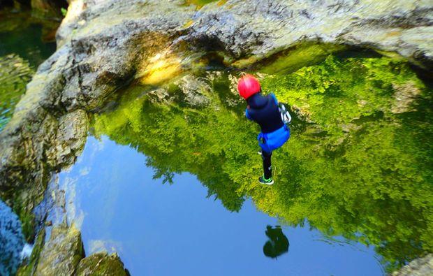 canyoning-tour-golling-an-der-salzach-absprung