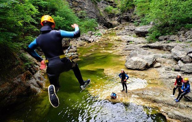 canyoning-tour-golling-an-der-salzach-sprung