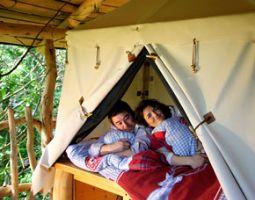 Außergewöhnlich Übernachten - Baumbett im Baumbett