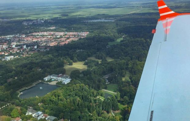 romantik-rundflug-flugzeug-bremen-ausblick