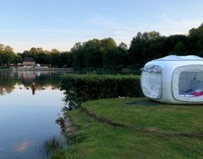 Außergewöhnlich Übernachten im sleeperoo Cube - 1 ÜN (Preis B - Mo-Do) - Strandbad Farmsen - Hamburg im sleeperoo Cube - inklusive Chillbox – Strandbad Farmsen