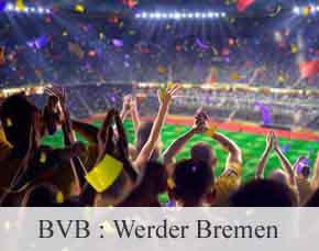 2016/2017 - BVB: Werder Bremen- Stehplätze Stehplatz Tickets - Übernachtung im 3-Sterne Hotel