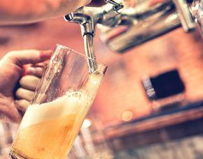 Bierverkostung - Hotel Schwarzer Adler - Innsbruck von 8 Sorten Bier