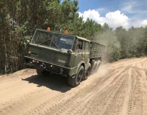 Truck fahren Mahlwinkel