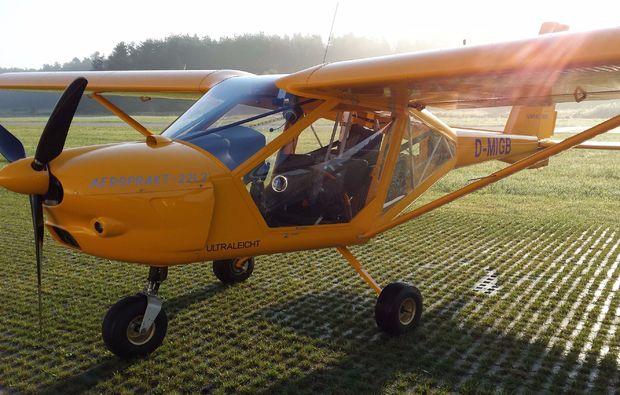 flugzeug-selber-fliegen-cham-testflug