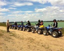 quad-fahren-see