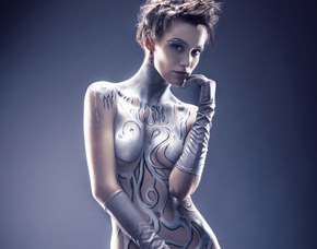 bodypainting-ludwigsburg-silver