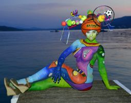 Bodypainting Fotoshooting Farc...