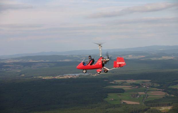 tragschrauber-rundflug-bayreuth-gyrocopter-rot-landblick-1