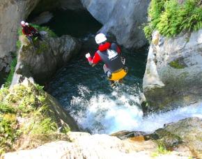 Canyoning Untere Auerklamm - ca. 4 Stunden - Sautens Untere Auerklamm - 4 Stunden