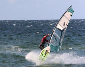 Windsurfen Schubystrand-Damp