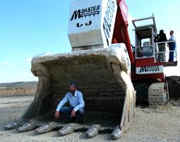 monsterbagger-fahren