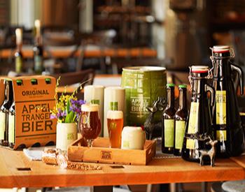 Brauereiführung und Bierverkostung Apfeltrang von 5 Sorten Bier, Brauereibesichtigung & 3-Gänge-Menü