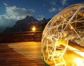 Außergewöhnlich Übernachten in der Bubble Suite Frühstück - 1 ÜN - Braunwald In der Bubble-Suite – Frühstück