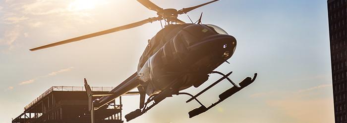 Hubschrauber-Skyline-Flug