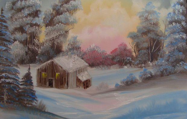 bob-ross-malkurs-eningen-unter-achalm-schnee-landschaft