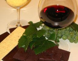 Wein & Schokoladen Verkostung Verkostung von 8 Weinen & 8 Sorten Schokolade