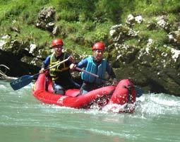 Wildwasser Kanu-Tour-Thierseer Ache-Kiefersfelden-Wildwasserschule Inntal Thierseer Ache, geführte Tour - ca. 4 Stunden