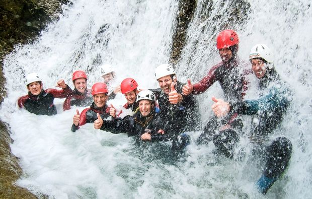 canyoning-tour-lofer-team
