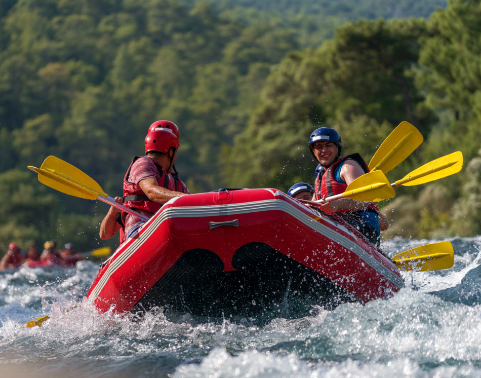 River Tour mit dem Rafting Boot River-Tour mit dem Raftingboot auf der Mur – ca. 3 Stunden