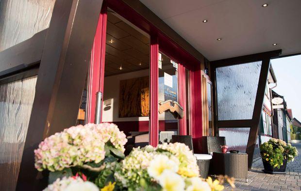 romantikwochenende-herzberg-am-harz-hoteleingang
