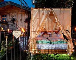 Übernachtung im Garten Himmelbett für Zwei - Dorfgastein im Garten Himmelbett - 4-Gänge-Menü