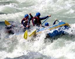 Rafting auf dem Inn - Tösener Schlucht - Halbtagestour Prutz Tösener Schlucht - 3,5 Stunden