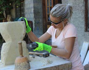 Bildhauer- Workshop   Denklingen mit Stein, ca. 8 Stunden