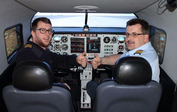 cockpit-piper-seneca-flugsimulator
