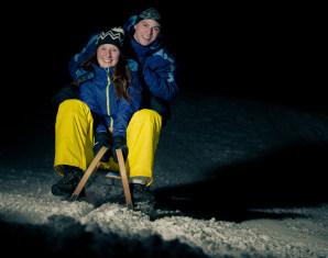 Nächtliche Schneeschuhwanderung Nachtwanderung - ca. 2,5 Stunden