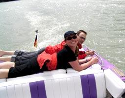 Romantische Bootstour für Zwei - Rhein Speyer Rhein, inkl. 1 Flasche Sekt - ca. 1 Stunde