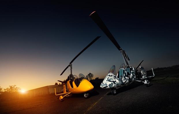tragschrauber-selber-fliegen-mannheim-daemmerung