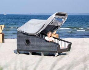 Kurzurlaub am Meer - 1 ÜN im Schlafstrandkorb - Eintritt Meerwasser-Wellenbad Eckernförde